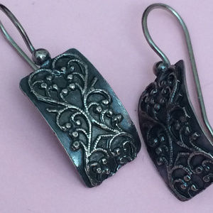 W1517 Retired Silpada Stamped earrings